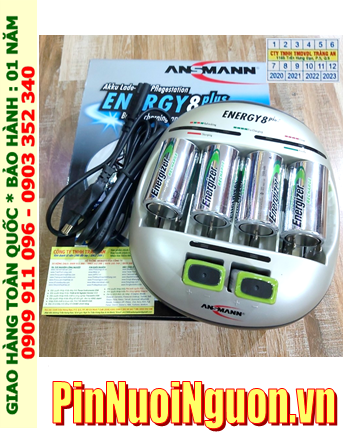 Energy 8Plus _Bộ sạc Energy 8Plus kèm 6 Pin (4Pin sạc C Energizer C2500mAh & 2 pin sạc 9v Energizer 9v175mAh)