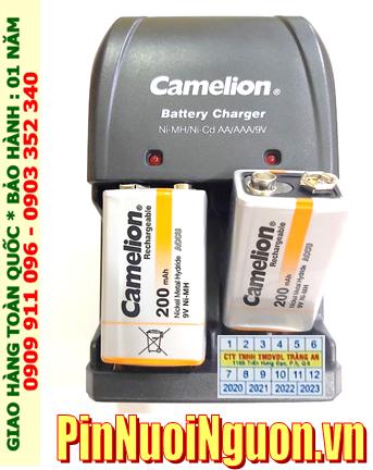Bộ sạc pin 9v Camelion BC-0904SM kèm sẳn 2 pin sạc Camelion NH-9V200BP1 (Pin màu cam)