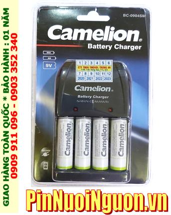 Camelion BC-0904SM _Bộ sạc pin BC-0904SM kèm 4 pin Camelion NH-AA2500ARBP2 (AA2500mAh 1.2v)