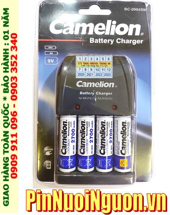Camelion BC-0904SM _Bộ sạc pin BC-0904SM kèm 4 pin sạc Camelion NH-AA2700LBP2 (AA2700mAh 1.2v)