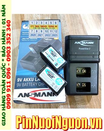 Ansman Powerline 2 _Bộ sạc Powerline 2 kèm 2 pin sạc 9v Ansman Max E300 (9v 300mAh)