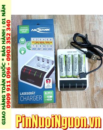 Ansman Comfort Smart _Bộ sạc Comfort Smart  kèm 4 pin sạc Camelion NH-AA2300ARBP2 (AA2300mAh 1.2v)