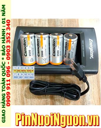 Energizer CHFC3; Bộ sạc pin Energizer CHFC3 kèm 4 pin sạc Camelion NH-D2500BP2 (D2500mAh 1.2v)