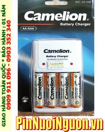 Camelion BC-1010 _Bộ sạc pin BC1010 Kèm 4 pin sạc Camelion NH-AA2700BP2 (AA2700mAh 1.2v)