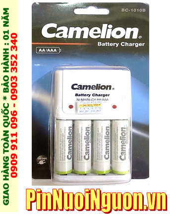 Camelion BC-1010 _Bộ sạc pin BC-1010 kèm 4 pin sạc Camelion NH-AA2500ARBP2 (AA2500mAh 1.2v)