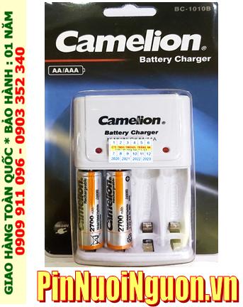 Camelion BC-1010B _Bộ sạc Camelion BC-1010B kèm 2 pin sạc Camelion NH-AA2700BP2 (AA2700mAh 1.2v)