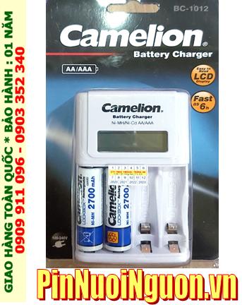 Camelion BC-1012 _Bộ sạc pin BC-1012 kèm 2 pin sạc Camelion NH-AA2700LBP2 (AA2700mAh 1.2v)