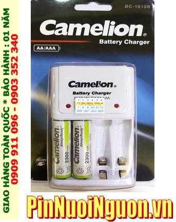 Camelion BC-1010B; Bộ sạc BC-1010B kèm 2 pin sạc Camelion NH-AA2300ARBP2 (AA2300mAh 1.2v)