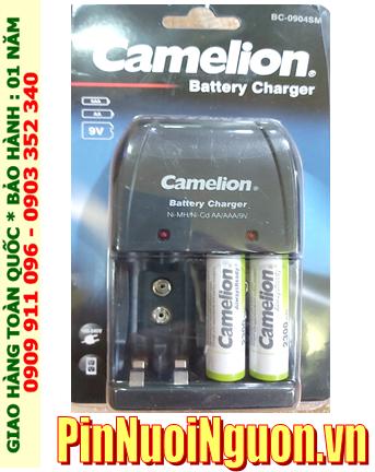Bộ sạc pin AA Camelion BC-0904SM(2NH-AA2300ARBP2), Kèm 2 pin sạc Camelion NH-AA2300ARBP2 (2300mAh 1.2v)