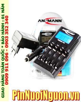Máy sạc pin Ansman Powerline 4Pro _màn hình LCD_Đo Dung lượng _Sạc 1,2,3,4 pin AA-AAA _tự tắt điện khi pin đầy