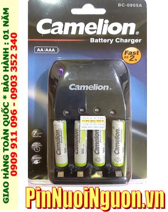 Bộ sạc pin AAA Camelion BC-0905A kèm 4 pin sạc Camelion NH-AAA900ARBP2 (AAA900mAh 1.2v)