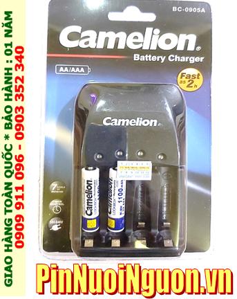 Bộ sạc pin AAA Camelion BC-0905A kèm 2 pin sạc Camelion NH-AAA1100LBP2 (AAA1100mAh 1.2v)