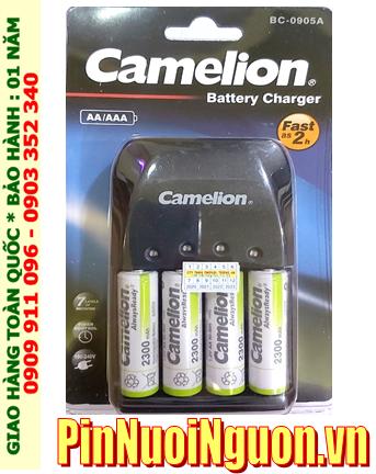 Camelion BC-0905A _Bộ sạc pin BC-0905A kèm 4 pin sạc Camelion NH-AA2300ARBP2 (AA2300mAh 1.2v)