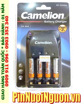Bộ sạc pin AAA Camelion BC-0905A kèm 4 pin sạc Camelion NH-AAA1100BP2 (AAA1100mAh 1.2v)
