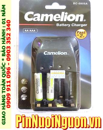Bộ sạc pin AAA Camelion BC-0905A kèm 2 pin sạc Camelion NH-AAA900ARBP2 (AAA900mAh 1.2v)