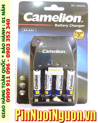 Bộ sạc pin AAA Camelion BC-0905A kèm 4 pin sạc Camelion NH-AAA1100LBP2 1.2v Lockbox