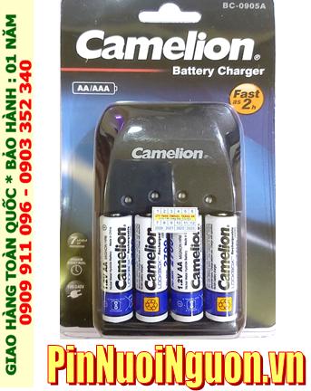 Bộ sạc pin AA Camelion BC-0905A kèm 4 pin sạc Camelion NH-AA2700LBP2 (AA2700mAh 1.2v)