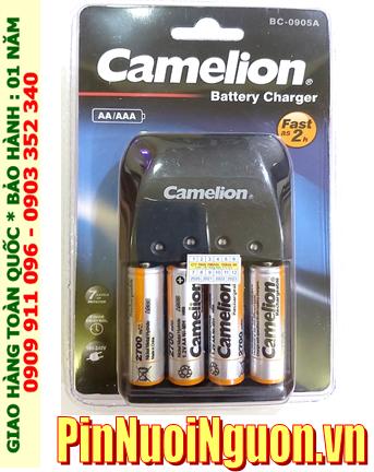 Bộ sạc pin AA Camelion BC-0905A kèm 4 pin sạc Camelion NH-AA2700BP2 (AAA2700mAh 1.2v)