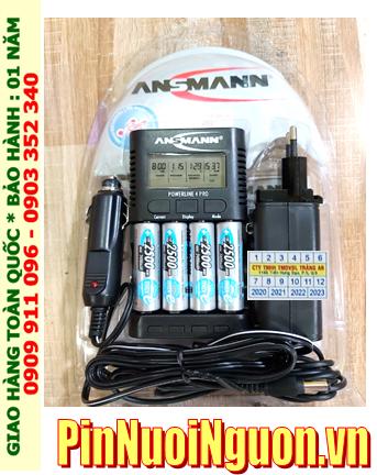 Ansman Powerline 4Pro; Bộ sạc pin AA Ansman Powerline 4Pro kèm 4 pin sạc Ansman AA2500mAh 1.2v
