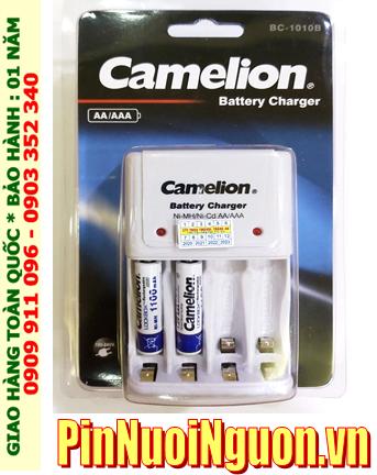 Bộ sạc pin AAA Camelion BC1010 _ kèm 2 pin sạc Camelion NH-AAA1100LBP2 (AAA1100mAh 1.2v)
