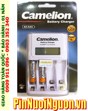 Bộ sạc pin AAA Camelion BC-1012  kèm 2 pin sạc Camelion NH-AAA1100BP2 (AAA1100mAh 1.2v)