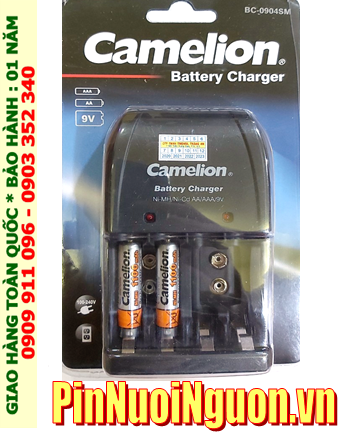 Camelion BC-0904SM _Bộ sạc Pin BC-0904SM kèm 2 pin sạc Camelion NH-AAA1100BP2 (AAA1100mAh 1.2v)