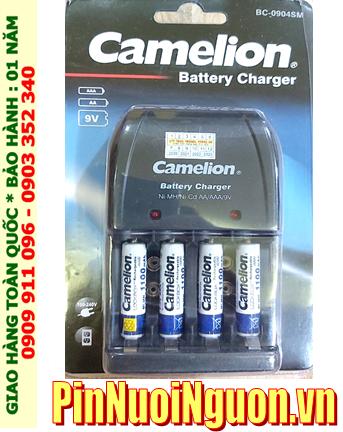 Bộ sạc pin Camelion BC-0904SM kèm 4 pin sạc Camelion NH-AAA1100LBP2 (AAA1100mAh 1.2v)
