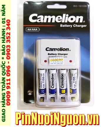 Bộ sạc pin AAA Camelion BC1010 kèm 4 pin sạc Camelion NH-AAA1100LBP2 (AAA1100mAh 1.2v)