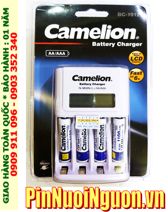 Bộ sạc pin AAA Camelion BC-1012 kèm 4 pin sạc Camelion NH-AAA1100BP2 (AAA1100mAh 1.2v)