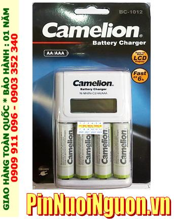 Bộ sạc pin AA Camelion BC-1012 kèm 4 pin sạc Camelion NH-AA2500ARBP2 (AA2500mAh 1.2v)