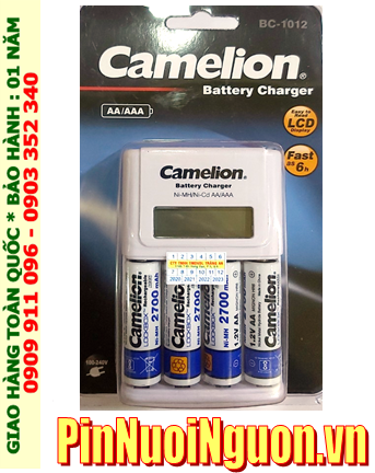 Bộ sạc pin AA Camelion BC-1012 kèm 4 pin sạc Camelion NH-AA2700LBP2 (AA2700mAh 1.2v)