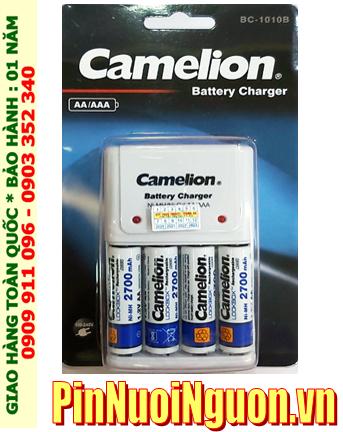 Camelion BC-1010; Bộ sạc pin máy ảnh AA Camelion BC-1010 _kèm 4 pin sạc Camelion NH-AA2700LBP2 (AA2700mAh 1.2v)