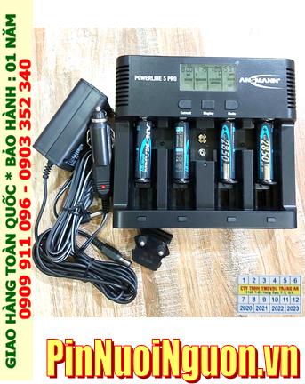 Ansman Powerline 5Pro _Bộ sạc có chức năng XẢ PIN Kèm 4 pin sạc Ansman AA2850mAh 1.2v