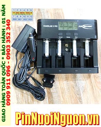 Ansman Powerline 5Pro _Bộ sạc có chức năng XẢ PIN  Kèm 4 pin sạc Eneloop AAA800mAh 1.2v _Japan