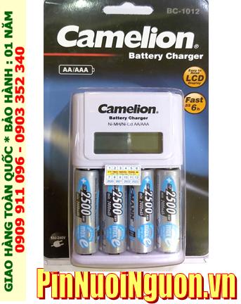 Bộ sạc pin có màn hình LCD Camelion BC-1012 kèm 4 pin sạc Ansman AA2500mAh 1.2v