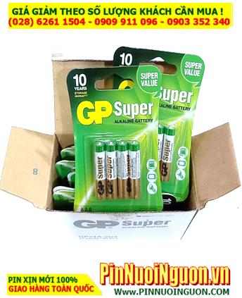 COMBO 01 HỘP (10 Vỉ 40viên) Pin AAA 1.5v Alkaline GP SUPER 24AUOK-U4 _Giá Chỉ 299.000đ/ Hộp