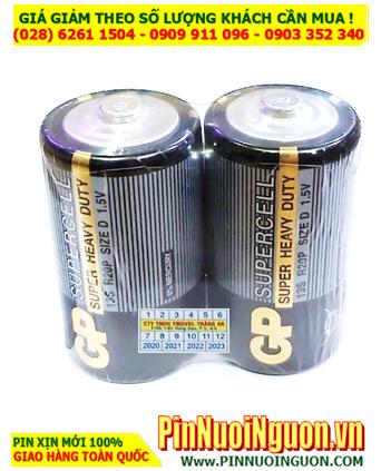 GP Supercell 13S R20P _Pin đại D 1.5v GP Supercell 13S R20P Super Heavy Duty _Vỉ 2viên
