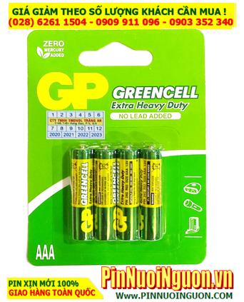 GP GreenCell 24G-U4 _Pin đũa AAA 1.5v  GP GreenCell 24G-U4 Extra Heavy Duty chính hãng _Vỉ 4viên