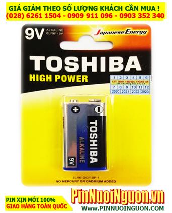 Pin Toshiba 6LR61GCP-BP1; Pin 9v Alkaline Toshiba 6LR61GCP-BP1 chính hãng _ Vỉ 1viên