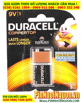 Pin Duracell 6LR61, MN1604B; Pin 9v Alkaline Duracell 6LR61, MN1604B Made in Malaysia _Vỉ 1viên