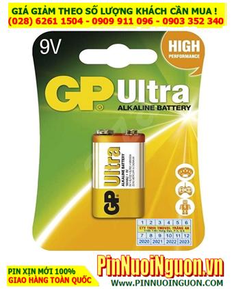 Pin GP Ultra 1604UG; Pin vuông 9v Alkaline GP Ultra 1604UG High Performance  _ Vỉ 1viên