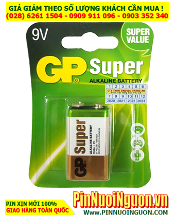 Pin GP Super 1604UG/6LR61; Pin 9v Alkaline GP Super 1604UG/6LR61 Super Value  _ Vỉ 1viên