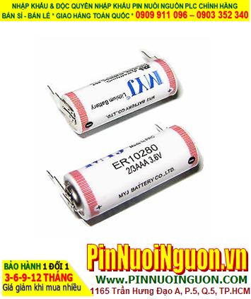 Pin ER10/28 _Pin ER10280; Pin nuôi nguồn ER10280 lithium 3.6v 2/3AAA 450mAh chính hãng