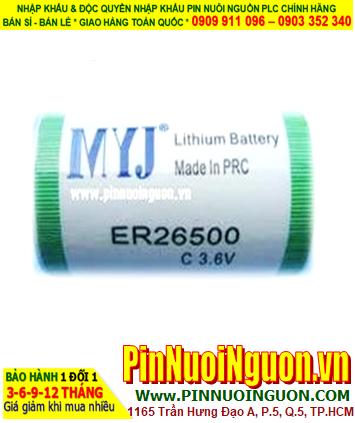 Pin ER26500 _Pin MYJ ER26500; Pin nuôi nguồn MYJ ER26500 lithium 3.6v C 8500mAh _Xuất xứ China