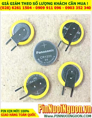 Panasonic CR1220; Pin Panasonic CR1220 lithium 3.0v (chân thép như hình)