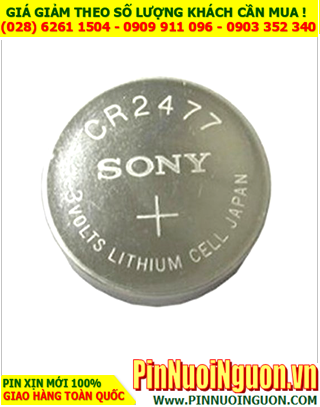 Sony CR2477; Pin 3v lithium Sony CR2477 _Made in Indonesia |HẾT HÀNG
