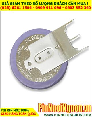 Panasonic ML2020/G1AN, Pin sac 3.0v lithium Panasonic ML2020/G1AN (03 Pins)