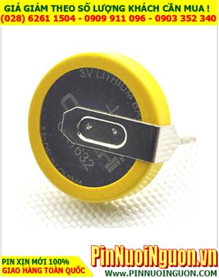 Pin CMOS CR1632; Pin CMOS 3v lithium CR1632 _chân thép như hình