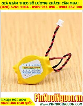 Pin CMOS CR2016; Pin COMOS 3v lithium CR2016  _loại có DÂY zắc cắm