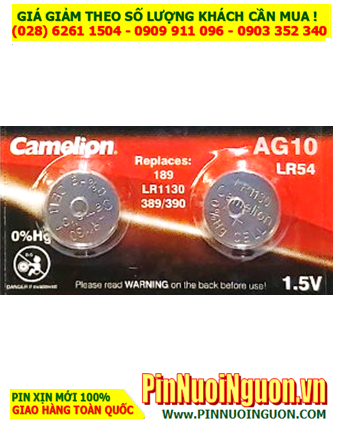 Camelion AG10; Pin cúc áo 1.5v Alkaline Camelion AG10 LR1130 189